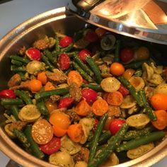 Orecchiette with Andouille Sausage and Pesto #Orecchiette #pastarecipes #pestosauce #chipotle #anduouillesausage