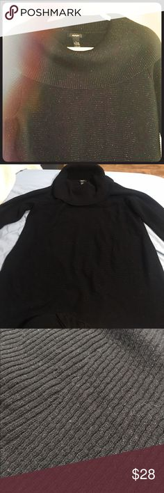 Alfani Cowl Sweater NWOT ALFANI Cowl Sweater . Black color, has shine to it. If you need more pictures or info please ask. Taking all reasonable offers :) Alfani Sweaters Cowl & Turtlenecks