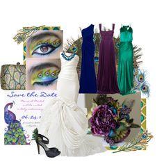 Peacock Bride, created by liz-garrison
