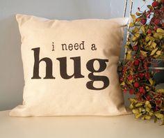 Fun modern typography pillow! by JoshuaByOak on etsy.com