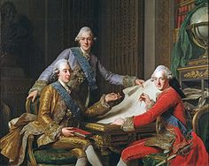 King Gustav III of Sweden and his Brothers by Alexander Roslin 1718-1793