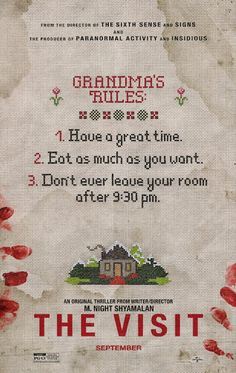 Gruesome Hertzogg Podcast  : Movie Trailers: The Visit (2015) Trailer