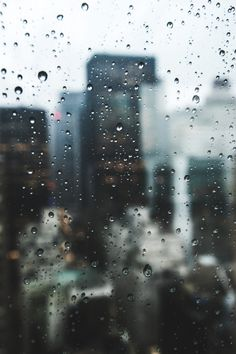 raindrops + tall buildings