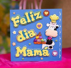 cuadro feliz día  mamá Party Frame, Ideas Para, Manicure, Bouquet, Diy Crafts, Birthday, Happy, How To Make, Pictures