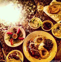 BLONDER AMBITIONS   INSTAGRAM RECAP – FOOD EDITION. zaytoon – fire   champagne   tzatziki   baba ganoush   lamb   pita   dolmathes   onions   olive oil