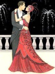 p/art-deco-couple - The world's most private search engine Art Deco Illustration, Illustrations Vintage, Retro Art, Vintage Art, Art Nouveau, Art Deco Cards, Art Deco Paintings, Art Deco Stil, Inspiration Art