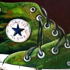 Converse All Star Tennis 24 in. x 30 in. High School Art Projects, Guache, Wow Art, Middle School Art, Teaching Art, Converse All Star, Art World, Art Lessons, Illustration Art
