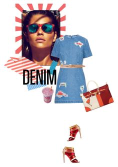 """41. Happy Denim"" by milva-bg ❤ liked on Polyvore featuring moda, House of Holland, Linea Pelle, Mirage, FRUIT, women's clothing, women, female, woman y misses"