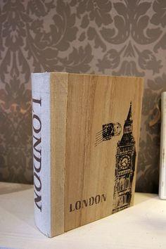 Wyjątkowa drewniana szkatułka London vintage deco (2982831181) - 46 zl