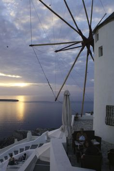 The iconic Oia windmill