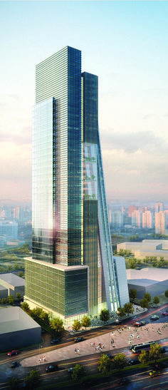 AKH Tower, Dammam, Saudi Arabia designed by Dewan Architects :: 40 floors, height 150m :: under construction