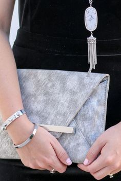 silver and white howlite is my favorite jewelry combination this season!