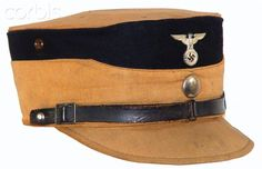Nazi Germany,SA kepi Berlin-Brandenburg Ww2 Uniforms, German Uniforms, Military Uniforms, Camouflage, Police Hat, Germany Ww2, Military History, Military Fashion, Headgear