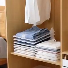 5 & 10 Piece Set Closet Organization Storage Make your wardrobe neat and organized with this clothing separator. Easily find your tops, shirts, Jean Organization, Small Space Organization, Home Organisation, Clothing Organization, Dresser Drawer Organization, Drawer Storage, Closet Shelf Organizer, Home Organizer Ideas, Clothes Storage Ideas For Small Spaces