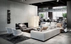 Freeman seating system, Creed armchair, Rodolfo Dordoni design. #minotti70 #indoor #2018collection #madeinitaly #company #showroom