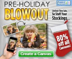 Gift Idea: Photo Canvas | Fabulessly Frugal: A Coupon Blog Sharing Gift Ideas, Black Friday Ads, Printable Coupons, DIY, How to Extreme Coupon, and Make Ahead Meals
