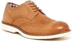 $69, Tan Leather Brogues: Ben Sherman Ronnie Leather Oxford. Sold by Nordstrom Rack. Click for more info: https://lookastic.com/men/shop_items/314148/redirect