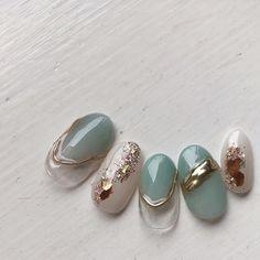 Pin on ネイル Asian Nails, Korean Nails, Bridal Nails, Wedding Nails, Korea Nail Art, Luv Nails, Japan Nail, Self Nail, Japanese Nail Art