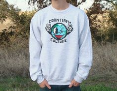 8 Bit Atlas Screen Print Sweat Shirt Graphic by CounterFitCulture