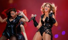 Beyoncé on song in Super Bowl half-time show spectacular  The lights went out, Beyoncé stormed onstage to sing live, and shortly after she'd gone the lights went out again