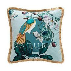 Antique Rainforest Chinese Art Velvet Pillowcase - 43x43CM NO FILLING / D