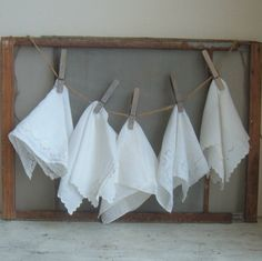 Wedding day handkerchiefs