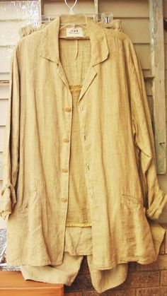 LG FLAX JEANNE ENGELHART INDIAN CORN JUICIER JKT LINEN RARE 2 FIND BOTH PIECES #Flax #BasicJacket