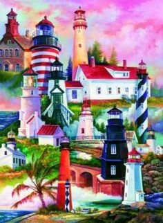 7702_Lighthouses_Jigsaw_Puzzle_lg (48 pieces)