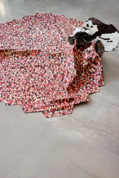 Colored Wooden Rugs by Elisa Strozyk - Design Milk