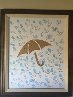 50 Best Ideas For Baby Shower Guest Book Ideas Girl Valentines Day Baby Shower Gift Bags, Baby Shower Signs, Boy Baby Shower Themes, Baby Shower Fun, Baby Shower Decorations, Christening Decorations, Thumbprint Guest Books, Baby Shower Thumbprint Guest Book, Raindrop Baby Shower