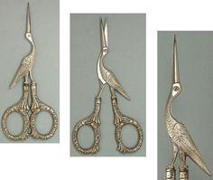 Редкая антикварная аиста ножницы с серебряными ручками * Америка * около 1900 | eBay