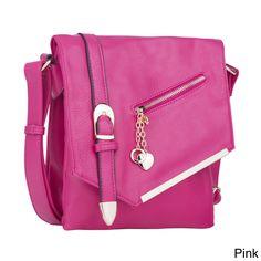 03176a062719 MKF Collection Jasmine Crossbody Shoulder Bag by Mia K. Farrow (Pink),  Women's