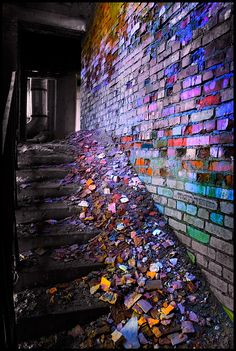 Beautiful decaying kaleidoscope bricks Siberia