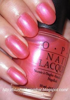OPI Strawberried in the Sand Summer 2001 black label vhtf dis