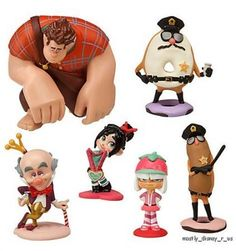Disney Infinity Wreck-It Ralph and Vanellope   New Disney Store Wreck It Ralph Sugar Rush Sugartown PVC Figurine ...