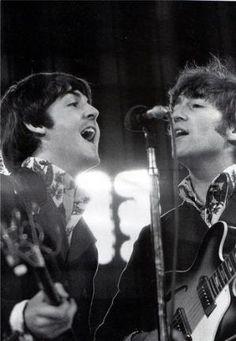 Paul McCartney and John Lennon by elsie