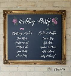 wedding signs, art and chalkboards