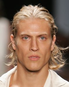 Long Hairstyle Inspiration for Men: Pulled Back