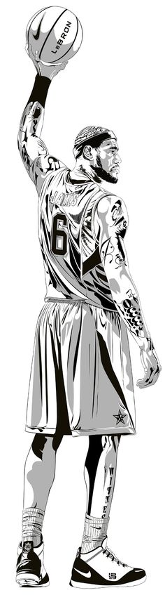 Le Bron James drawing