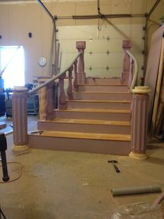 Building the bridge and staircase,greenfieldwoodworks.com