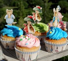 The prettiest Beatrix Potter inspired cupcakes ever ...a quiet life...