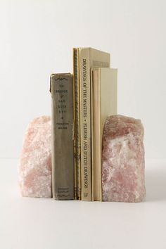 giant chunks of stone are proliferating in our house, so this seems like a pretty way to use a few. Sao Paulo Bookends, Anthropologie