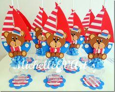enfeite de mesa festa urso marinheiro - Pesquisa Google