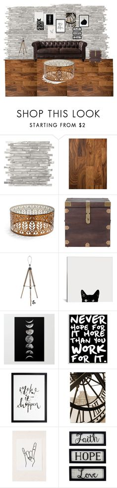 """Estilo Vintage"" by ocledezma on Polyvore featuring interior, interiors, interior design, hogar, home decor, interior decorating, Frontgate, Home Decorators Collection, Stupell y Urban Outfitters"