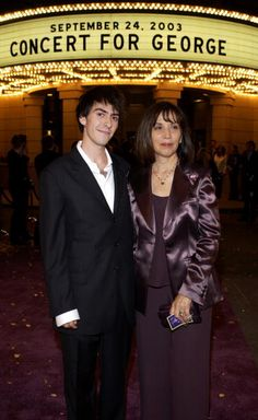 Olivia & Dhani at the premiere of the film 'Concert For George'