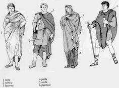 Roman clothes types.