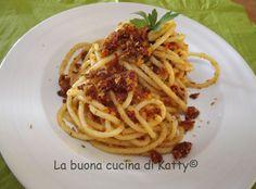 La buona cucina di Katty: Spaghetti ai pomodori secchi