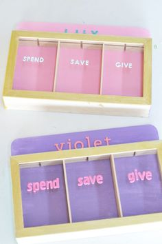 Kmart Kids Money box hack and tutorial Kids Money Box, Diy Money Box Ideas, Diy For Kids, Crafts For Kids, Money Saving Box, Money Jars, Sand Crafts, Easy Craft Projects, Wood Projects