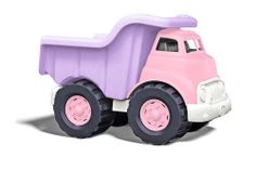 Stay pretty in pink while getting down and dirty helping to save the planet. Made in the USA from 100% recycled plastic milk containers, the Green Toys™ Pink Dump Truck is ready for any task, hauling sand and rocks or dolls and diamonds with ease. This durable, eco-friendly rig is both safe and stylish, with no metal axels and a workable purple dumper