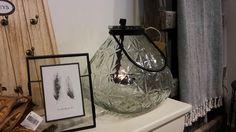 Grote glazen waxinelichthouder - wit #homebymarije #sfeer #wonen #woondeco